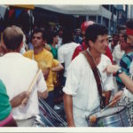 1987 - Ivo Araújo playing with Manhattan Samba at the Brazilian Day New York on 46th Street, Little Brazil