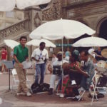August 2nd 1988 - Ivo Araújo jamming Brazilian music in Central Park New York City