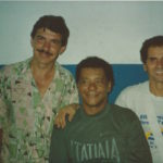 January 15th 1994 - Tomate Mestre Paulão and Ivo Araújo playing with the Escola de Samba União da Ilha do Governador