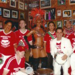 April 7th 2006 - Manhattan Samba posing at Brasilia Grill in Newark